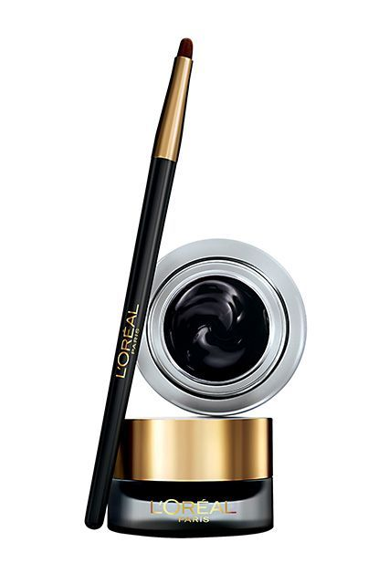 "24 Drugstore Products Hollywood's Top Makeup Artists Swear By #refinery29  http://www.refinery29.com/hollywood-favorite-drugstore-beauty-products#slide-24  ""This long-wear gel liner glides on easily, so it's great for a sharp cat-eye or a smudged, smoked-out line,"" Stern says. ""The color is more unique [than black], but still a neutral — and it's great for all eye colors!"""