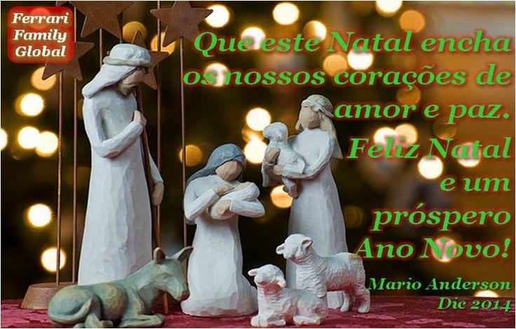 Que este Natal encha os nossos corações de amor e paz. Mario, Dic 2014 - #Familia #Ferrari #citações #feriados #FFquotes #FFholidays