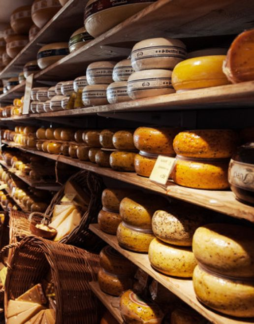 Take a visit to the Amsterdam Cheese Museum >>> This sounds fun! You can sample cheese, buy cheese and learn all about cheese. YUM