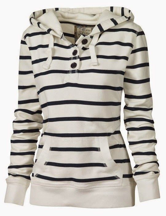 Striped Fall Hoodie #warmth