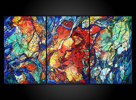 Burning Moonlight   Original Abstract Dripping by eugeniaArt, $2000.00