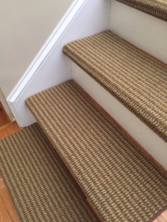 San Marco Terrace Sage 100 New Zealand Wool True Bullnose Padded Carpet Stair Tread Runner Replacement Style Comfort Safety Sold Each In 2020 Carpet Stairs Diy Carpet Carpet Runner