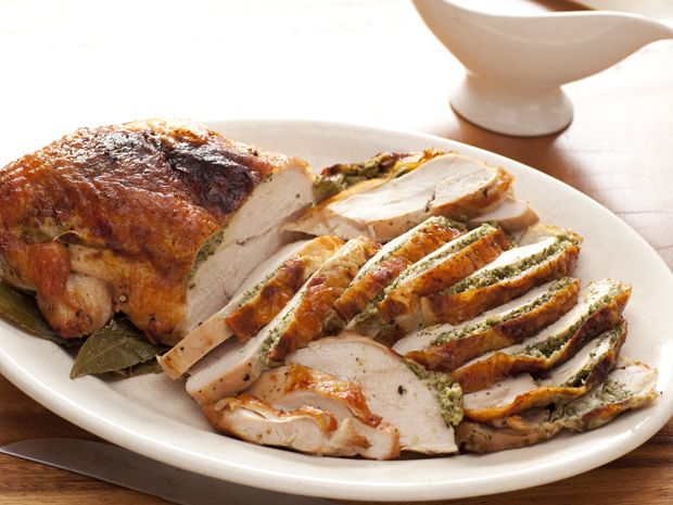Herb Roasted Turkey Breast with Pan Gravy Recipe : Rachael Ray : Food Network - FoodNetwork.com
