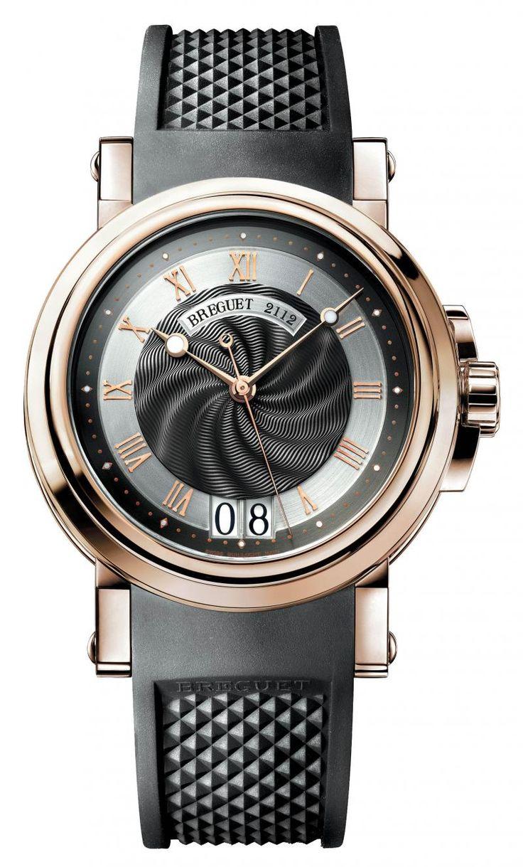 Breguet 5817BR/Z2/5V8 Marine Big Date. #Breguet - черные - швейцарские мужские наручные часы