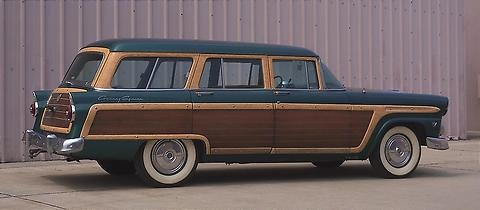 1955 Ford Country Squire Station Wagon Transportation
