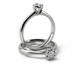 Inel de logodna cu diamante Vladislav din aur alb