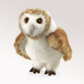 Folkmanis FM2261 Barn Owl Puppet.   Distributed by Kaleidoscope Australasia.