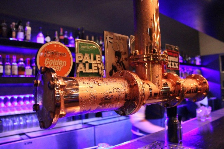 Up close view of the Copper Beer Tap at Fathers Office