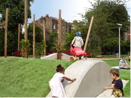 Spa fields hills parklife london 2007 playscapes playgroundscontemporary designfieldsageinglandscape