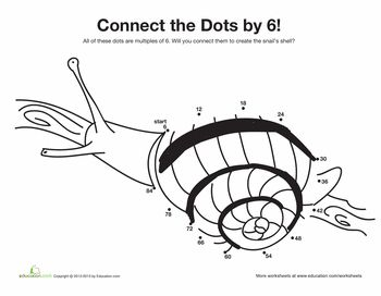 skip counting snail dots skip counting and 2nd grades. Black Bedroom Furniture Sets. Home Design Ideas