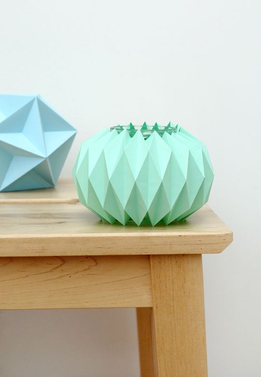 Accordion Paper Folding: Candle Holders