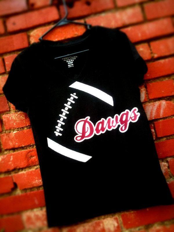 Custom football shirt bulldogs dawgs football tshirt. $25.00, via Etsy.