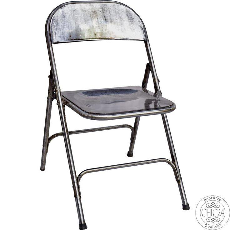 Klappstuhl im Factory Stil dunkel - chic24 - Vintage Möbel und Industriedesign Lampen Online kaufen, € 75,00
