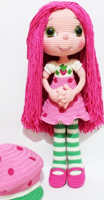 How to crochet pen with fingers for a doll (2) (366x700, 254Kb)