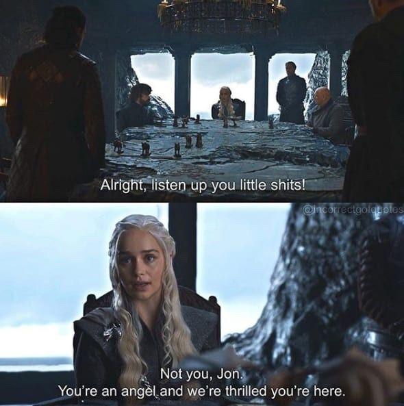 Game of thrones season 7 funny humour meme, Jon Snow, Kit Harington, Emilia Clarke, Daenerys Targaryen, Jonerys