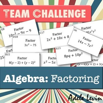 Latest TEAM CHALLENGE uploaded to my TPT store. ***20% off for 24 hours***