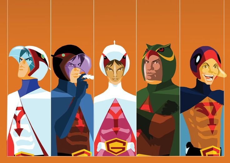 Science Ninja Team Gatchaman sans logo/graphics/cropping ...