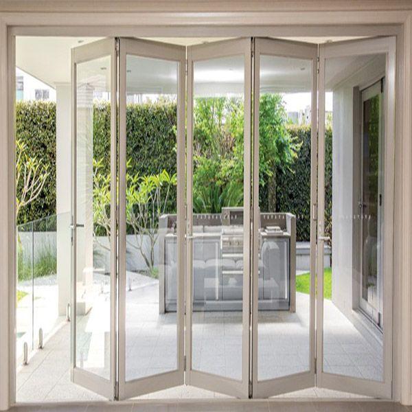 White Frame Balcony Exterior Bifold Door Folding Door Buy Bifold Door Aluminum Bifold Door Exterior Bifold Door Product On Alibaba Com In 2020 Bifold Doors Wooden Patio Doors Folding Glass Doors