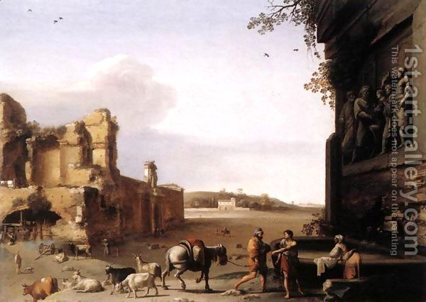 Ruins of Ancient Rome c. 1620 by Cornelis Van Poelenburgh