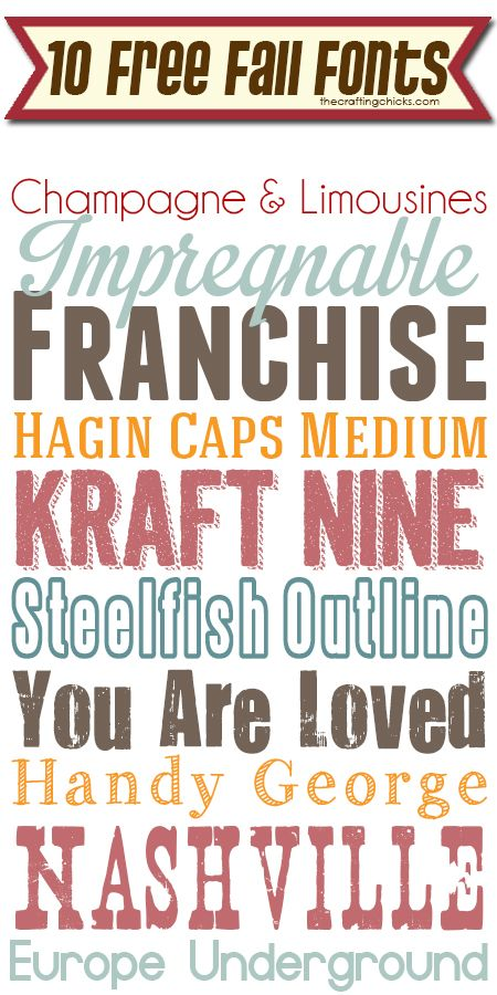 10 Free Fall Fonts thecraftingchicks.com