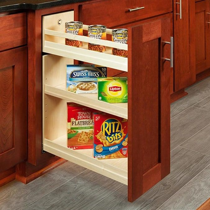 Century Components 8 5 In W X 26 25 In H 3 Tier Pull Out Wood Soft Close Cabinet Organizer Lowes Com Cabinet Organization Cabinets Organization Base Cabinets