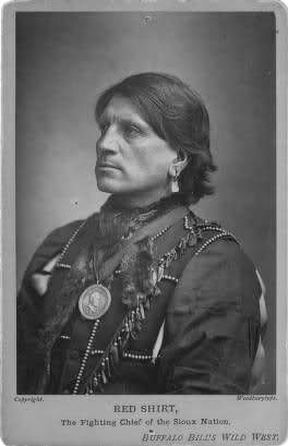 "Red Shirt again, ""The Fighting Chief of the Sioux Nation,"" probably by Elliott & Fry (London), 1887"
