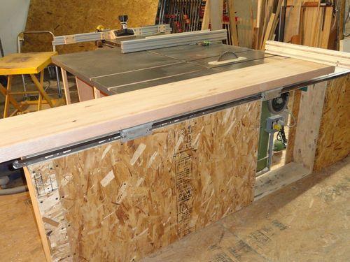 Sliding Tablesaw Homemade : Shop built Sliding table for Tablesaw #1: Building a sliding table for ...