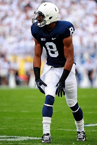 1. Penn State Nittany Lions  If Michigan's uniforms deserve credit for their classic, simple and traditional styling, then Penn State's are the most fashionable in the nation. The dark navy blue and white look has been and will continue to be amazing for decades to come. The clean look occasionally will have white trim around the neck or arms, but rarely changes on game day. The numbers added to the side of the helmet also work well and give it an Alabama feel.