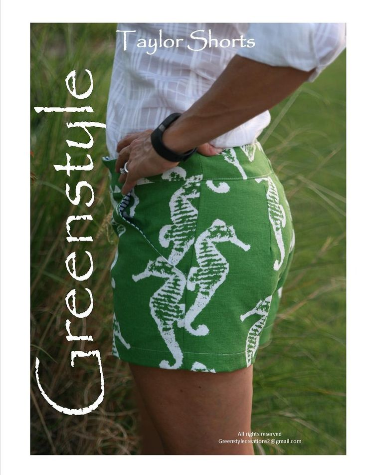 Taylor Shorts PDF Sewing Pattern in Sizes 0 to 18 – GreenStyleCreations