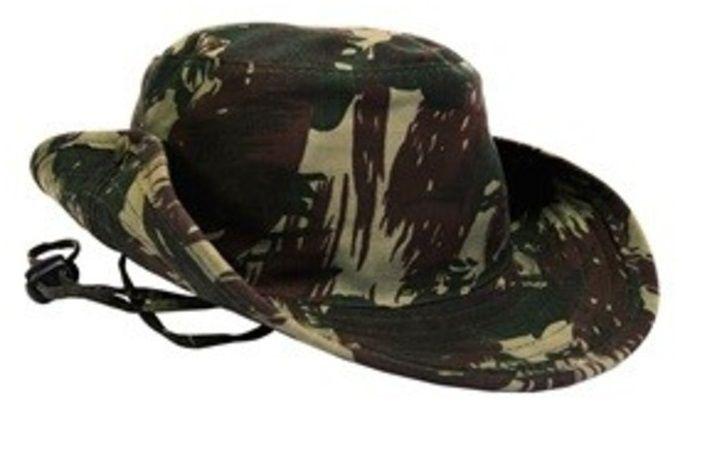 Chapéu Tropical Camuflado Redondo De Selva Estilo Militar - América Tático Aventura Artigos Militares Aventura Esportes Radicais e Camping.