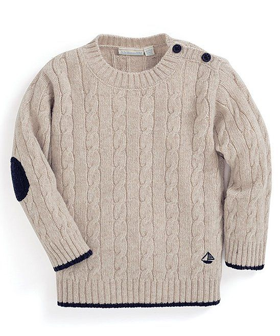 d8ae7b724 Take a look at this Natural Cable-Knit Wool-Blend Sweater - Infant ...