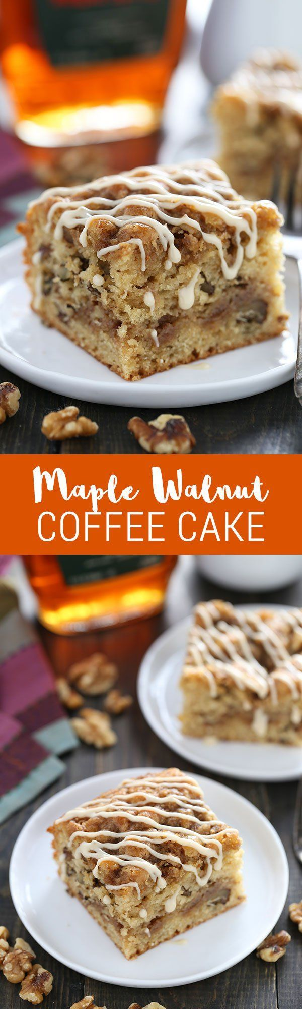 We LOVED this coffee cake! Super quick & easy, perfect recipe for fall entertaining! Made with @CAWalnuts!