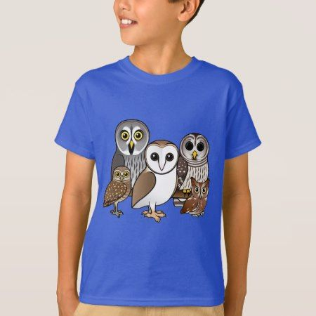 5 Birdorable Owls T-Shirt - click/tap to personalize and buy