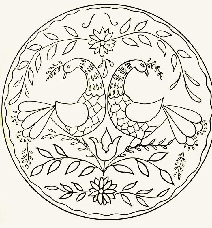 bavarian folk art coloring pages - photo#15