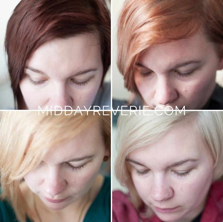 Three-sessions of bleaching and toning at home to go from dark brownto platinum blonde hair.                        middayreverie.com