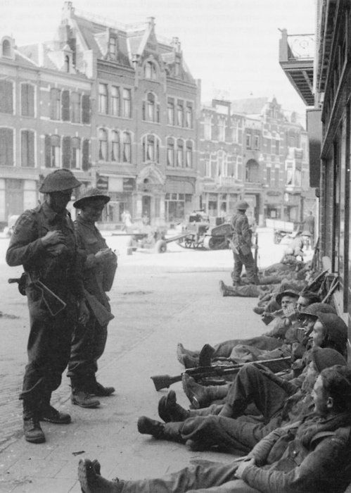 Troopers resting somewhere in the Netherlands during Operation Market Garden, September 1944