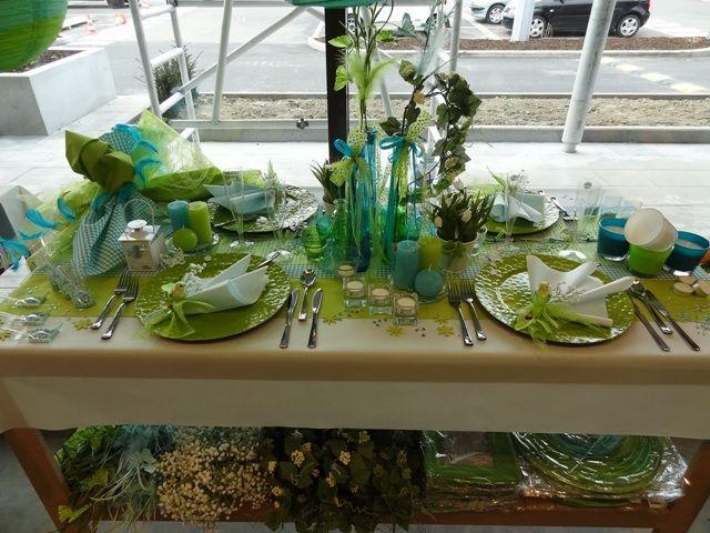 Décoration de table magasin AVA de Flémalle