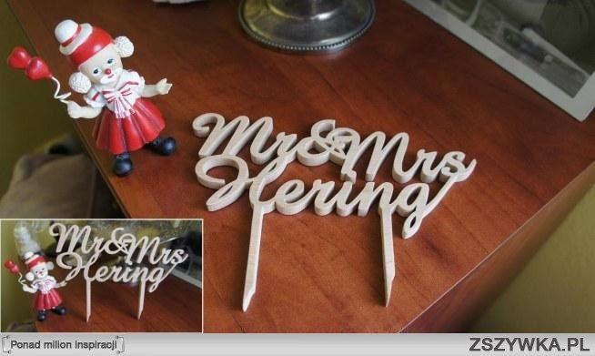 napis na tort ślubny