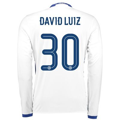 Chelsea Linear Third Shirt 16-17 - Long Sleeve with David Luiz 30 prin: Chelsea Third Shirt… #ChelseaShop #ChelseaStore #ChelseaFC #Chelsea