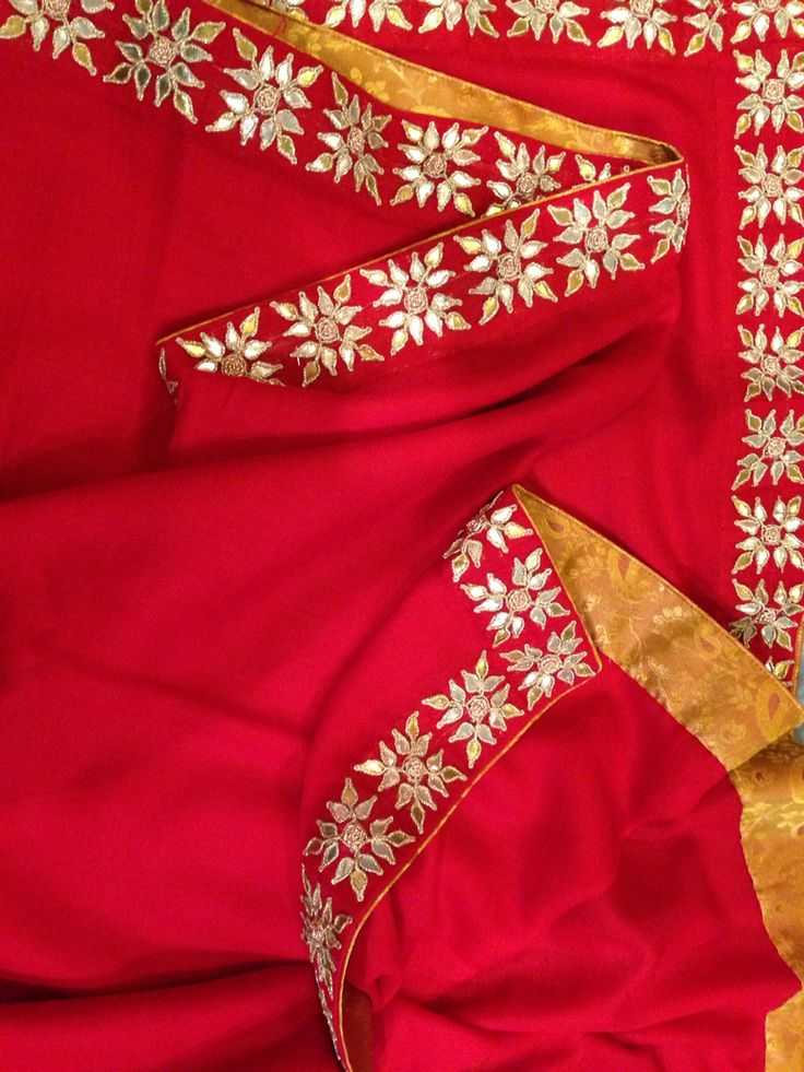 Arzoo gotapatti shawl-red To order please call 9958836354 Or write to us at…