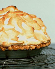 Mile High Lemon Pie: This whimsical pie sets the bar high for taste and appearance: It has a zesty lemon filling -- Martha's favorite -- a flaky pate brisee base, and a glossy Swiss meringue crown.