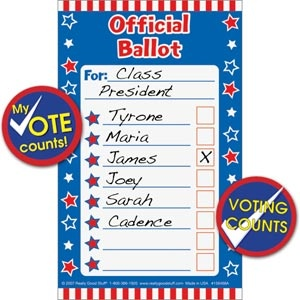 Let's Vote Ballot Pad and Stickers