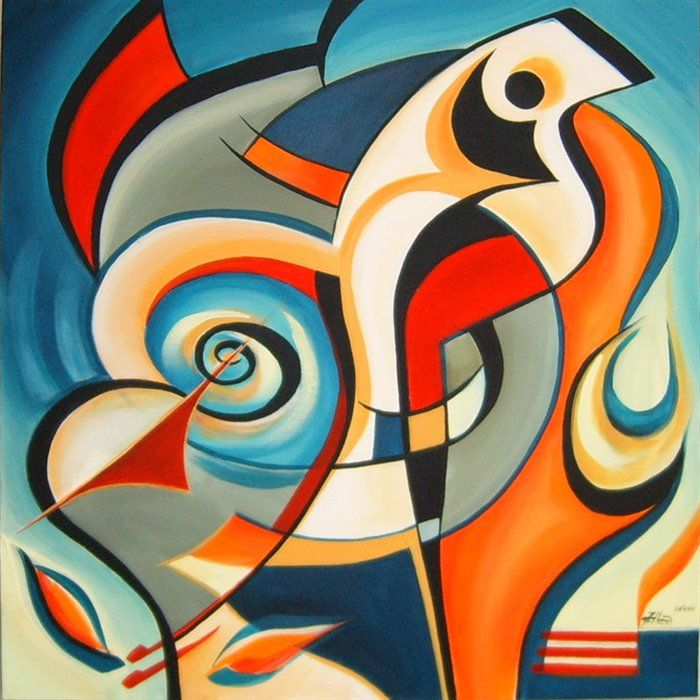 Another beautiful design Aneli, bold bright colours that grab the eye, and a fabulous abstract bird, love it. Description from paintingsilove.com. I searched for this on bing.com/images
