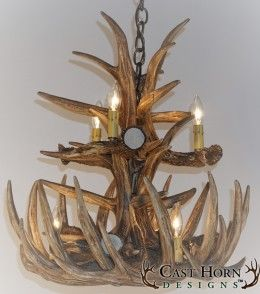 Whitetail Deer 12 Large Antler Chandelier by Cast Horn Designs