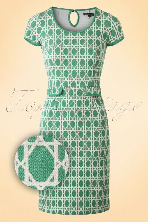 King Louie Tulip Dress Oil Green  100 49 16540 20160125 0003WV
