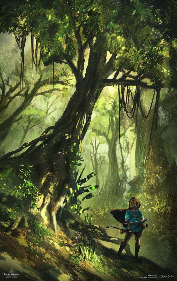 Faron Woods - Zelda Open World by Mei-Xing