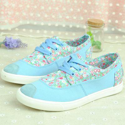 2014 лето сладкий красивые модели парусиновые туфли корейской версии прекрасные цветочные кружева обувь, чтобы помочь низкие женские диких с ...