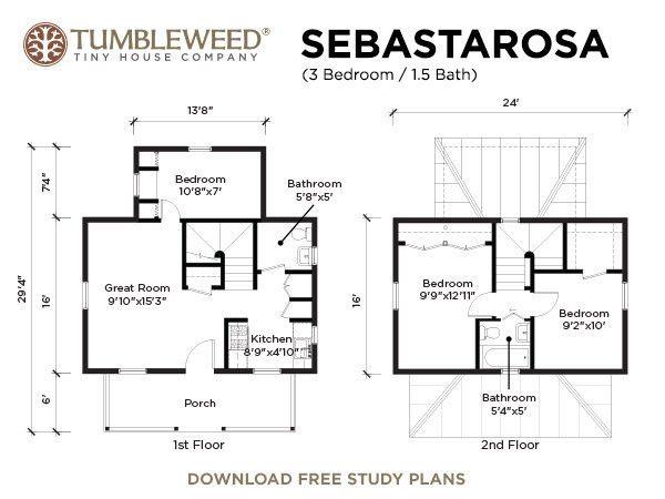 Sebastarosa plans i love this adorable little house for a for Tumbleweed floor plans