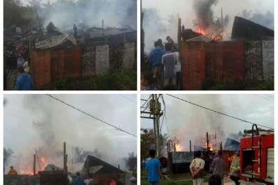 Bengkel Perkakas Kapal Terbakar 3 Jam di Rohil, Ini Kronologisnya