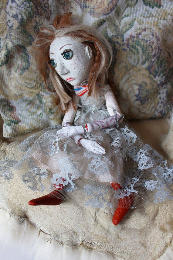 Vintage Freckled Beauty Doll by lalkoduch on Etsy